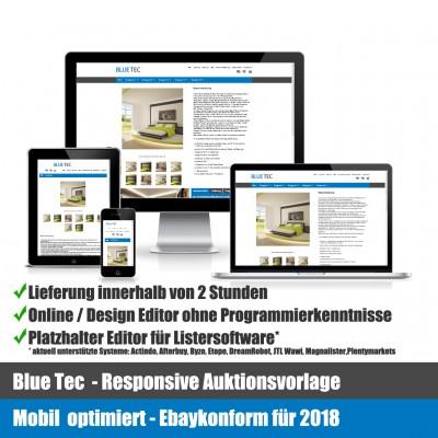 Blue Tec Responsive Ebay Auktionsvorlage Mobil optimiert