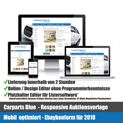 Car Parts Blue Responsive Ebay Auktionsvorlage Mobil optimiert