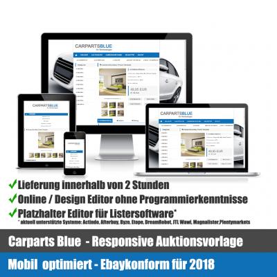 Car Parts Blue Responsive Ebay Auktionsvorlage Mobil optimiert