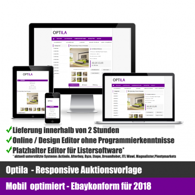 Optila Responsive Ebay Auktionsvorlage Mobil optimiert
