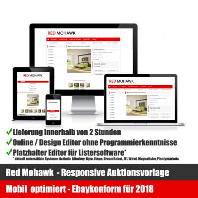 Red Mohawk Responsive Ebay Auktionsvorlage Mobil optimiert