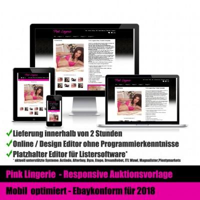 Pink Lingerie Responsive Ebay Auktionsvorlage Mobil optimiert